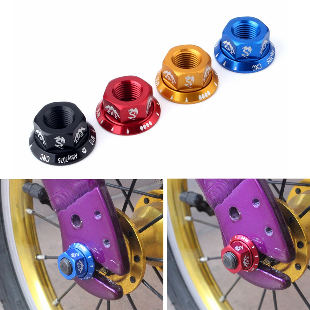 4Pcs for Rear Hub M8 Durable Track Wheel Nuts Child Bicycle BMX Fixie Axle Screw