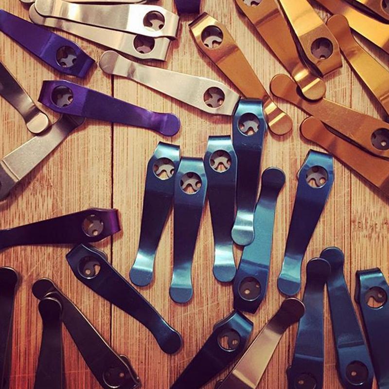 Two Colors High Quality Deep Carry Titanium ToolPocket Clip for C81 C10 C11