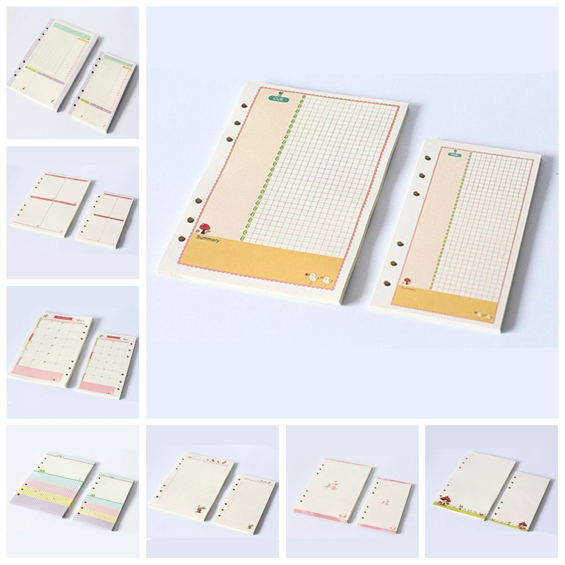 A5//A6 Diary Colourful Planner Insert Refill Schedule Notes Organiser 45 Sheets
