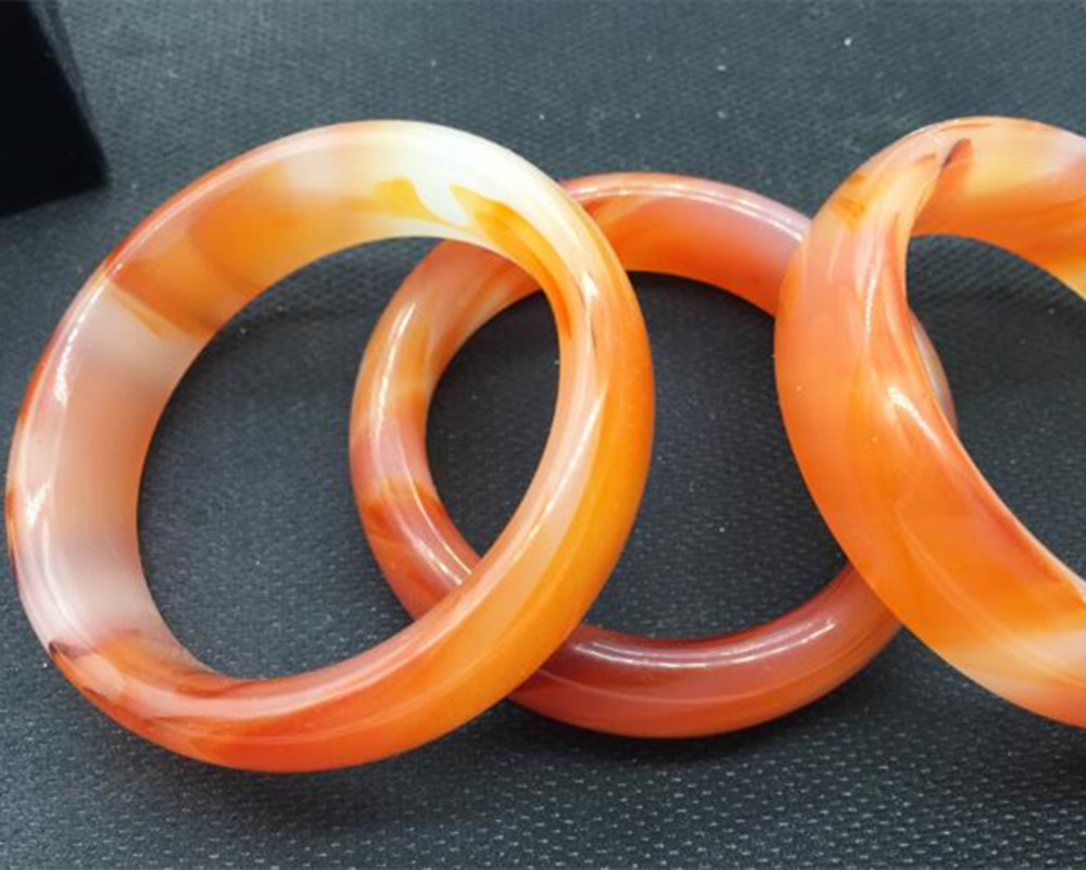 Chinese beautiful bangle Natural yellow jade hand-carved bracelet 62mm-64mm
