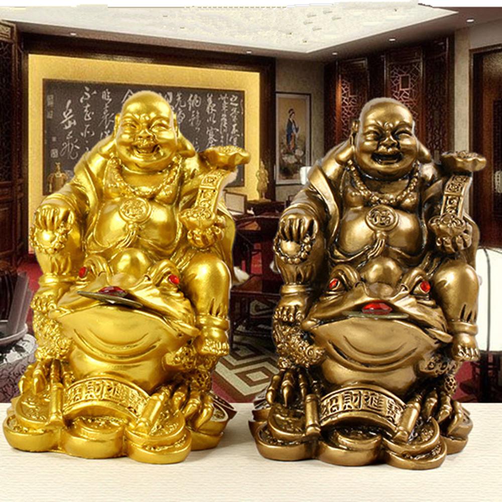 Laughing Chinese Buddha Wealth Toad Money Luck Prosperity Jin Chan Chu Feng Shui