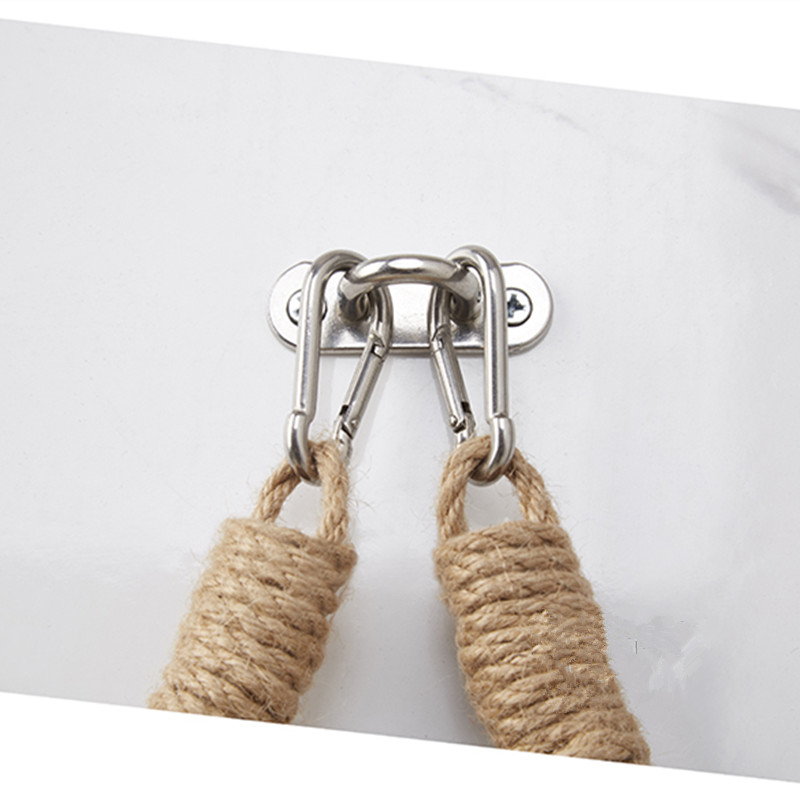 Industrial Style Towel Holder Ring Cast Iron /& Natural Jute Rope Nautical
