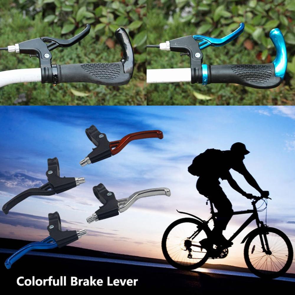 BMX// Road//Mountain Bike Handle Hand V Bar Brake Lever Blue Bicycle MTB