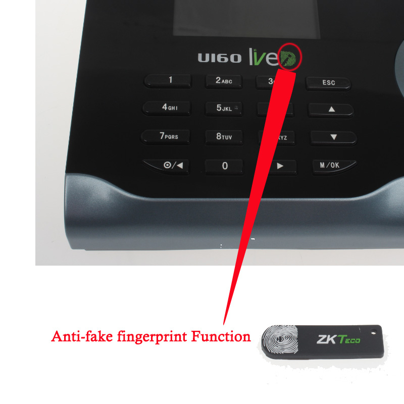 Details about Zksoftware U160 Biometric WIFI Fingerprint Time Attendance  Fingerprint Scanner