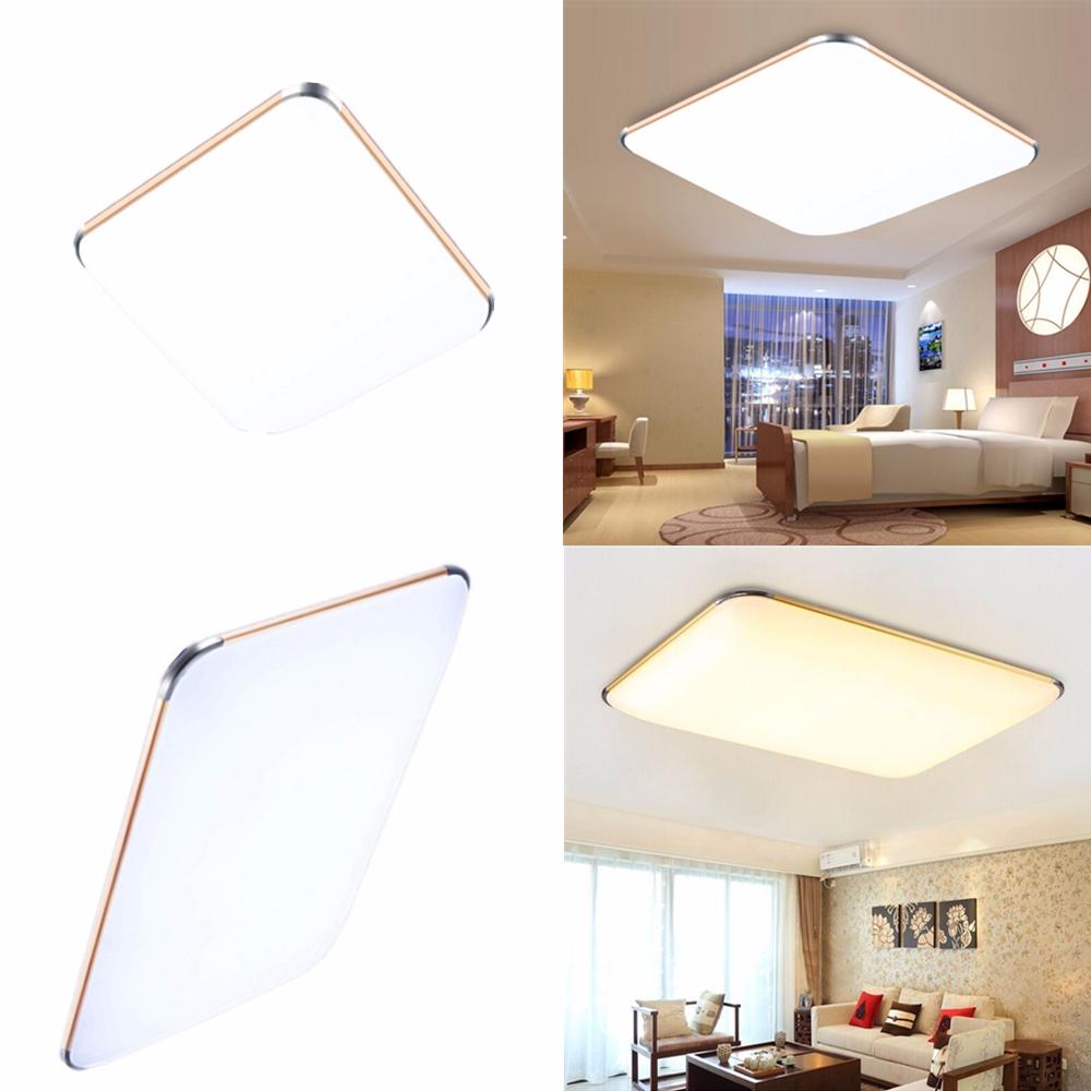 12w 96w ultraslim deckenleuchte led flurleuchte deckenlampe dimmbar wandleuchte ebay. Black Bedroom Furniture Sets. Home Design Ideas