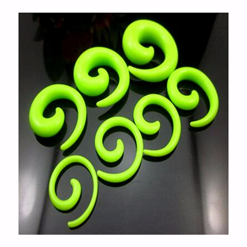 2 gauge punk snail spiral acrylic hook taper ear plug