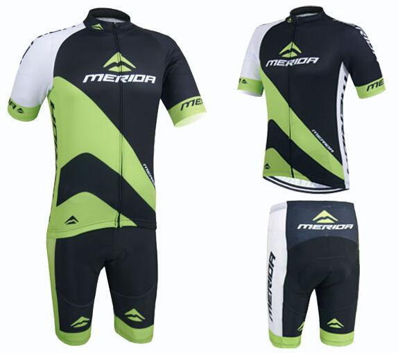 Shorts Set S-5XL Merida Cycling Team Clothes Men/'s Cycling Jersey /& Padded Bib