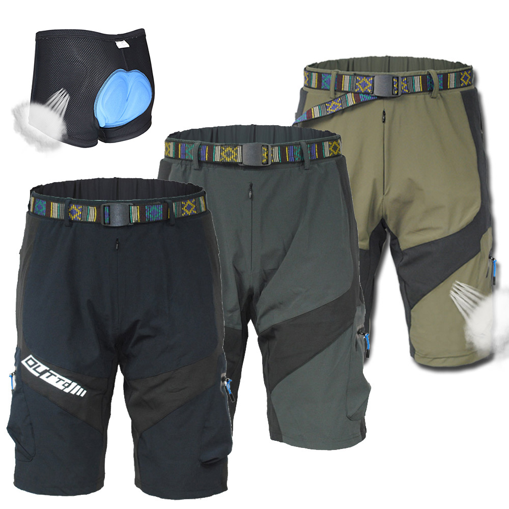 Army Green Cycling Mountain Bike//Bicycle Shorts Half Pants 3D Padded Underwear