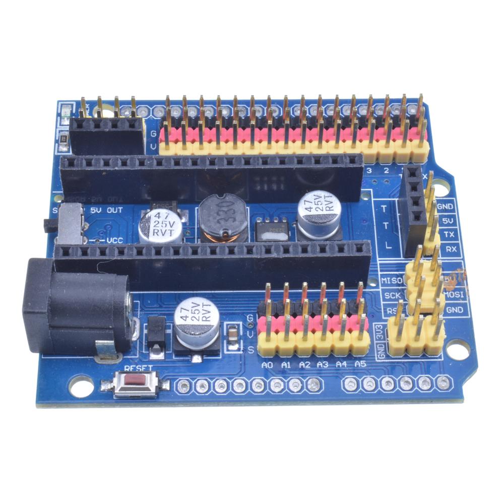 Nano Pro Compatible UNO R1 Duemilanove 2009 Organizer Nano I//O Expansion Sensor Shield Module for Arduino UNO R3 Nano V3.0 3pcs