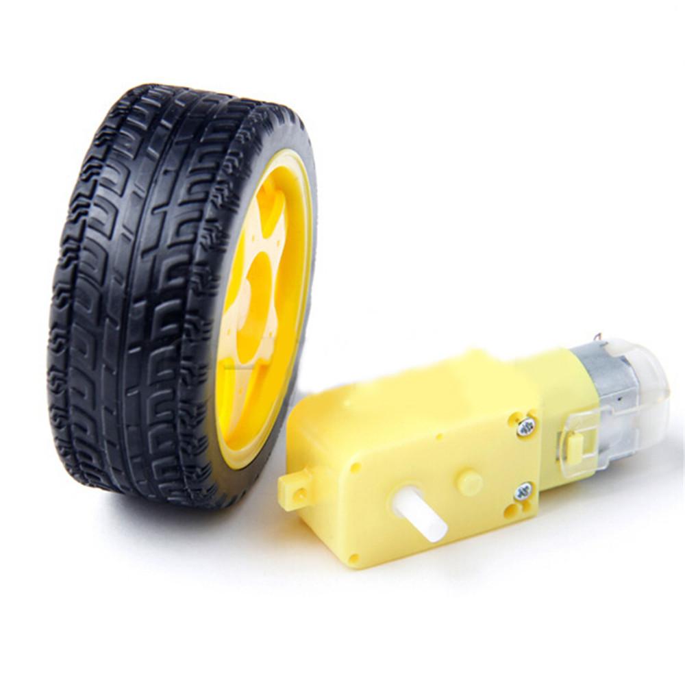 New Plastic Tire Tyre Motor Support Transformer Car for Smart Car DC 3V-6V