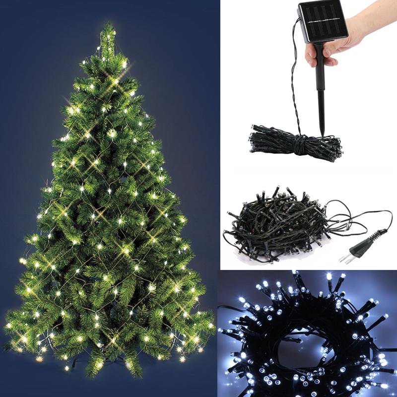 Solar Lichterkette Solarleuchte Kaltweiß LED Weihnachten Garten ...