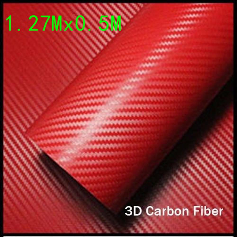 Luxury 3D 1.27*0.5M Premium High Gloss Gold Carbon Fiber Vinyl Wrap Bubble