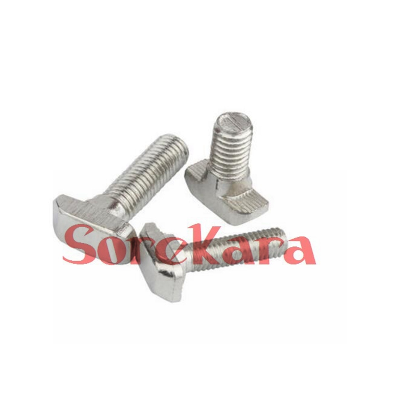 M8 x 25 Hammer Head Screw Metric T-Slot Stud Pack of 5