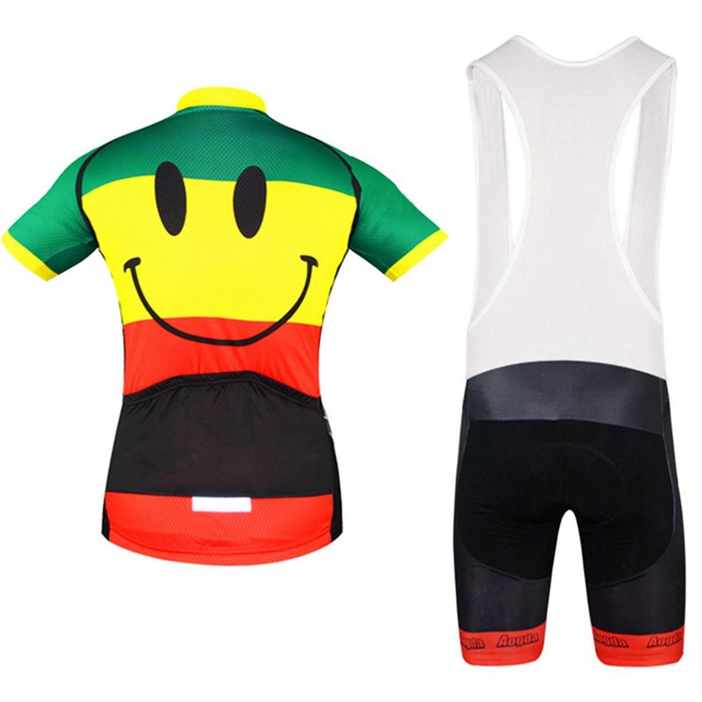 Shorts Kit Reflective Aogda Smiley Men/'s Cycle Clothing Cycling Jersey /& Bib