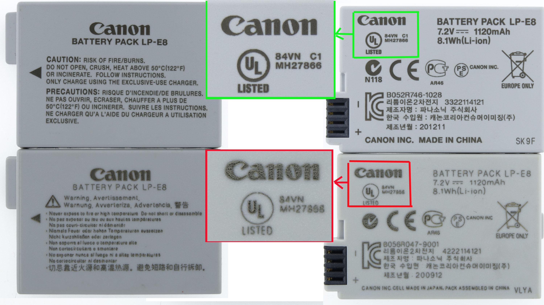Canon Lp E8 Lpe8 Akku Fr Eos 700d 600d 650d 550d Kiss X4 X5 X6i Ebay Lithium Battery Echt Oder Falsch Original Or Fake