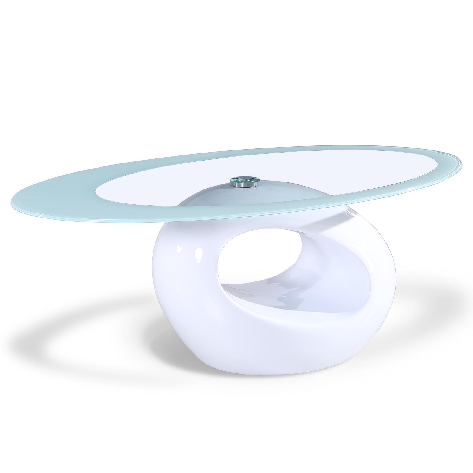 fabulous 1312 tea table living room furniture tempered glass | Modern High Gloss Glass Oval Coffee Table Living Room ...