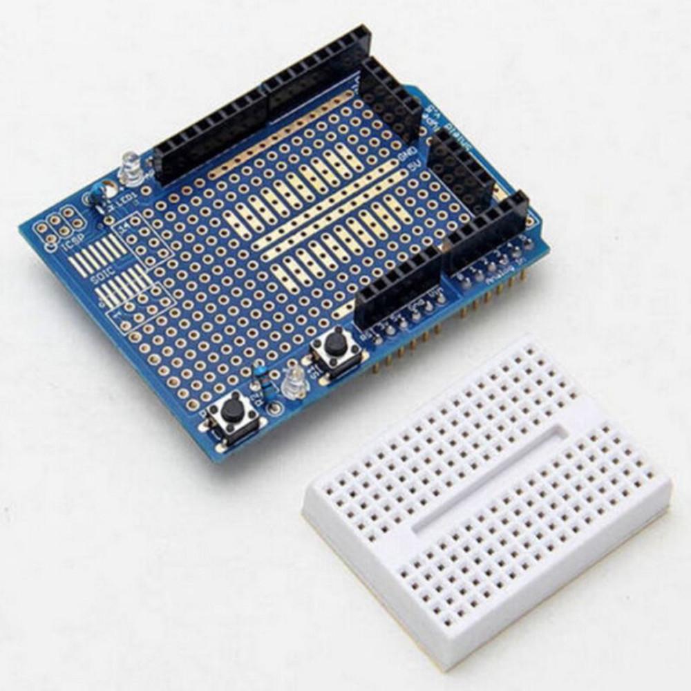 Arduino UNO MEGA2560 A2TS Prototype With MiniShield ProtoShield V3 Breadboard
