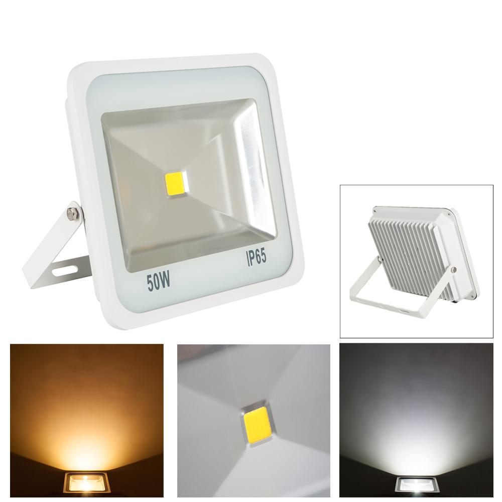 floodlight led 50w fluter baustrahler hallen leuchte au enbeleuchtung lampe wei ebay. Black Bedroom Furniture Sets. Home Design Ideas