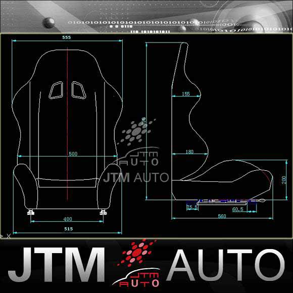 BN JTM PAIR GREEN BLACK RACING SPORT SEATS ADR APPROVAL