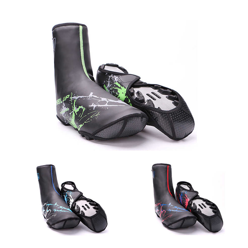 "Waterproof Cycling Shoe Covers Protecter Bike Cycling Overshoes 11.8/"" Reflective"