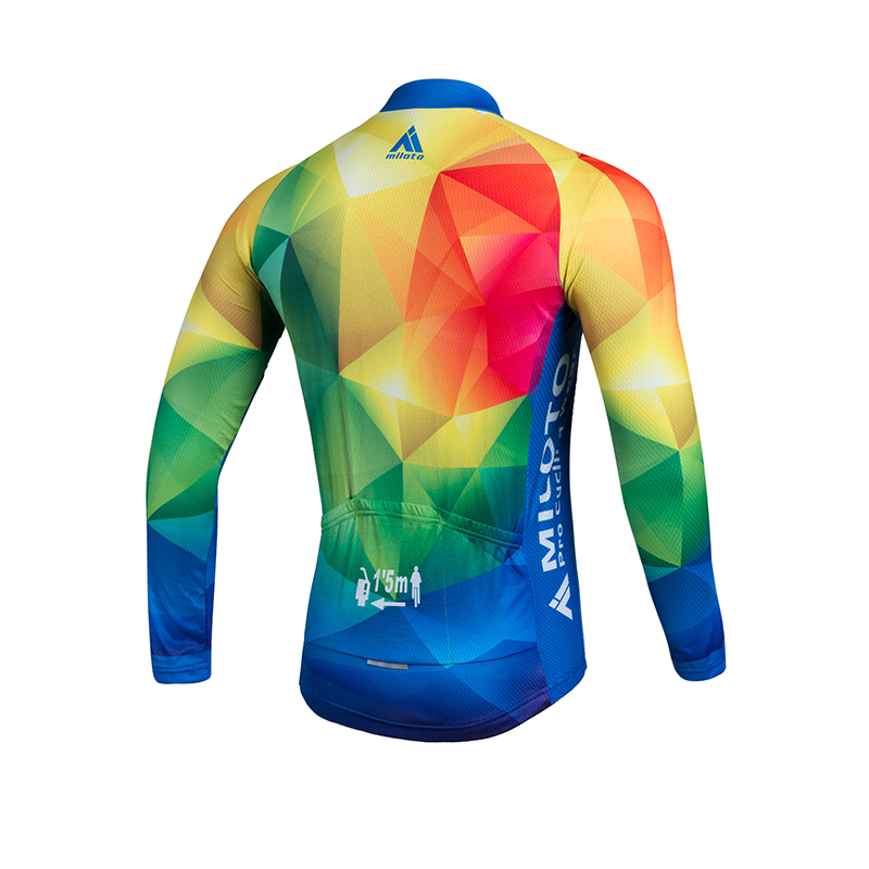Details about Men s Long Sleeve Cycle Jersey Reflective Cycling Jersey Bike  Bicycle Shirts Top fc5884c59