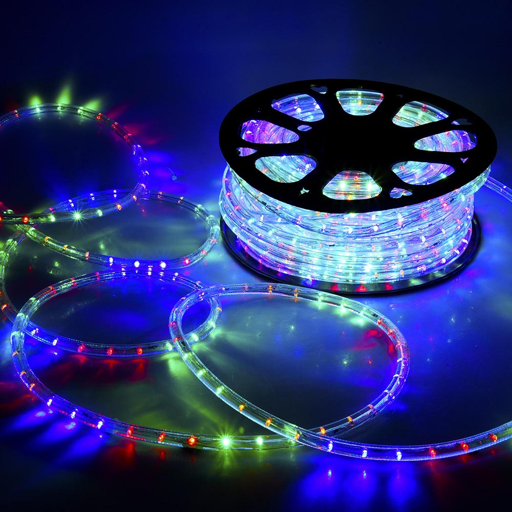 20m 30m 50m 100m Multicolor 2 Wire Led Strip Rope Light Outdoor Xmas Christmas Wiring Diagram 3 Besides String Lights Lamp 220v Ebay