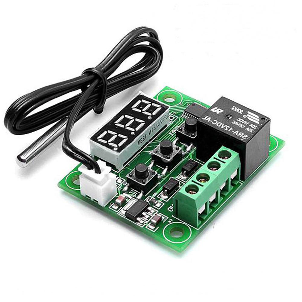 12V DC Temperaturregelung Thermostat Schalter Regler Thermometer mit LED Sensor