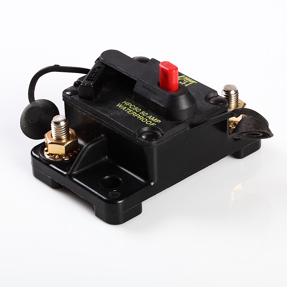 Waterproof 120 Amp Manual Reset Circuit Breaker 12v Car Auto Boat Audio Fuse