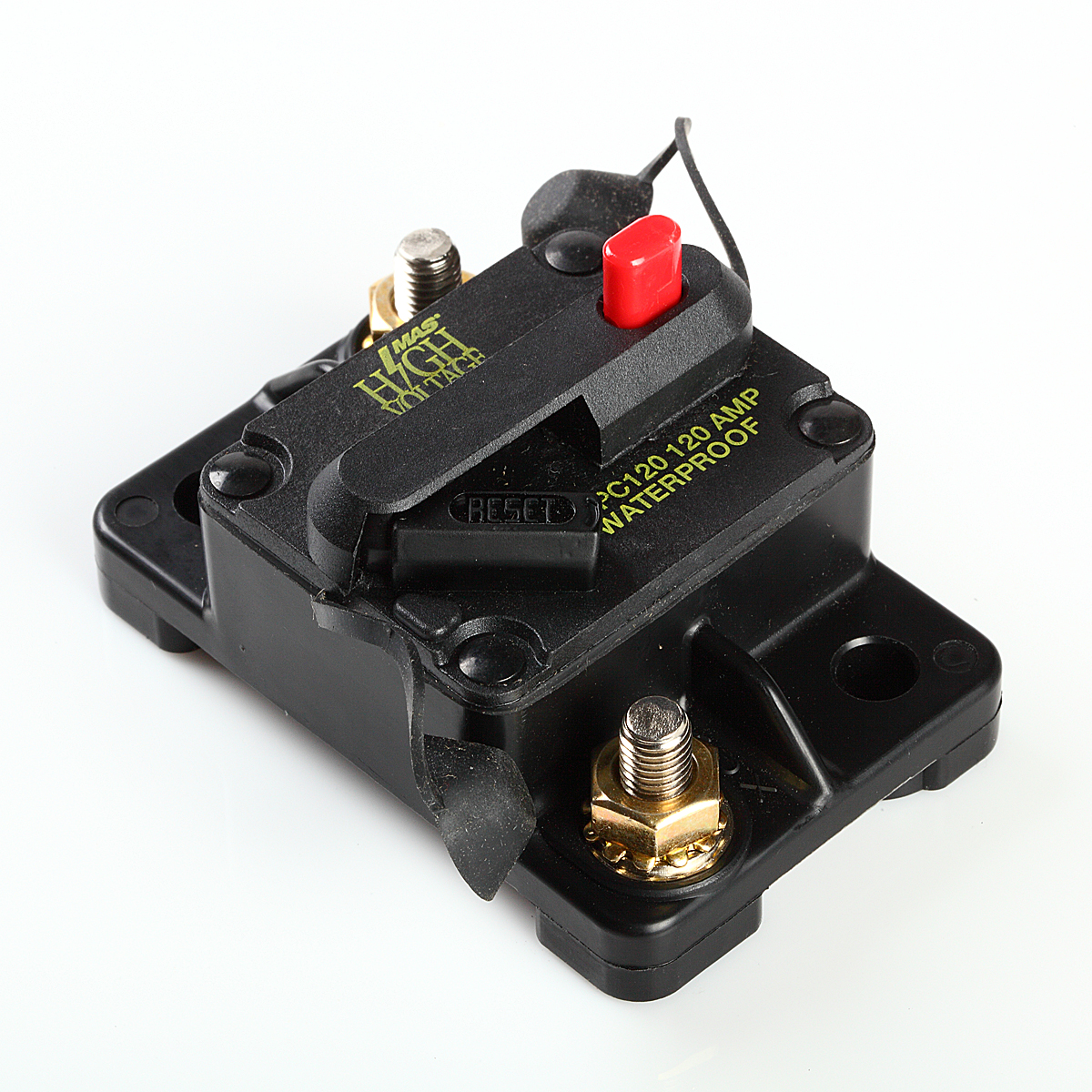 Waterproof 120 Amp Manual Reset Circuit Breaker 12v Car Auto Boat Audio Fuse
