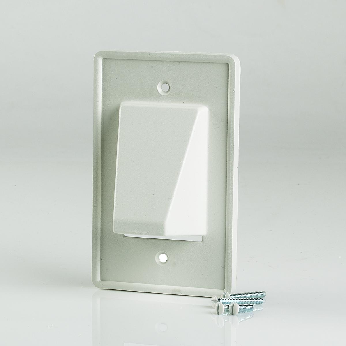 CE1 Arlington Single Gang Reversible Low-Voltage Cable Entrance Plate