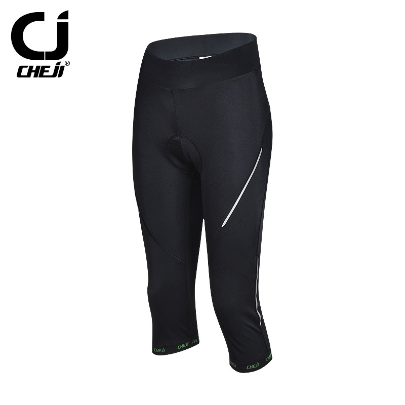7b704f30530 CHEJI Ladies 3 4 Cycling Pants Compression Women s Padded Bike Shorts Knicks