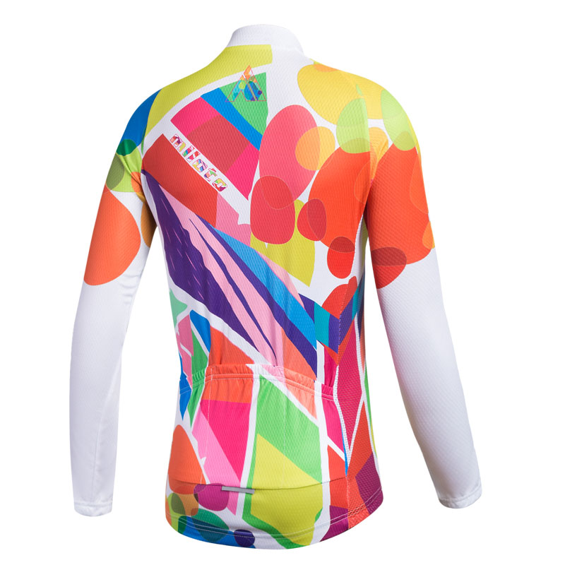 d7452eb6c Women s Long Sleeve Cycling Jerseys Reflective Ladies Bicycle Bike Jersey  Shirts