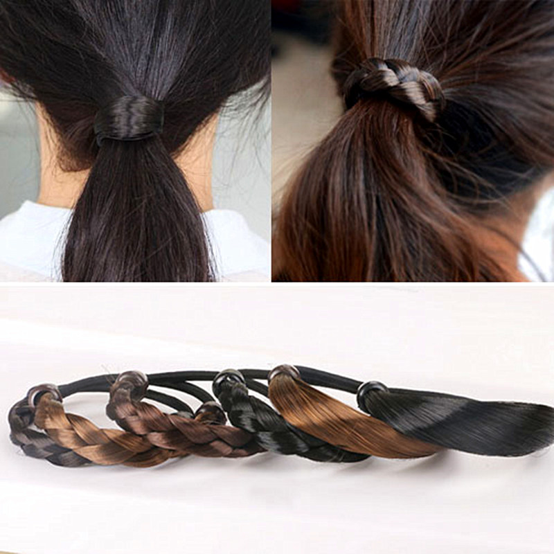 Women Elastic Rope Hair Tie Ponytail Holder Wig Hairpiece Head Band Hairband  New 45c79a045
