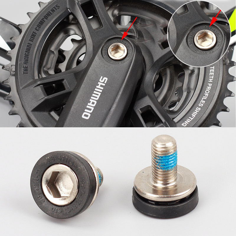 Quality Bike Bottom Bracket Axle Allen Key Crank Bolts 8M Chrome W//Seal 2
