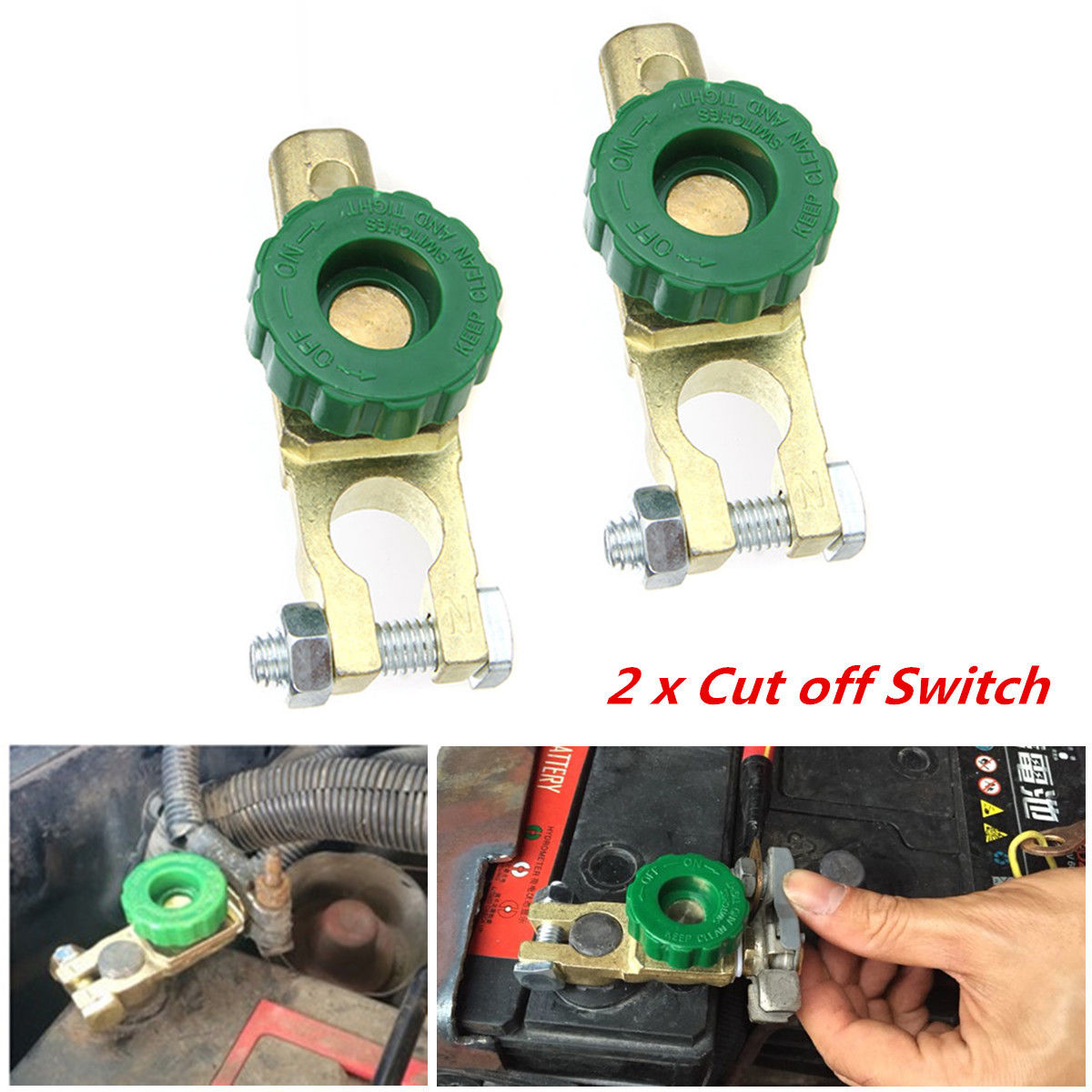 Details about For 12V & 24V Car Battery Terminal Disconnect Switch Cut Off  Power Protecter 2X