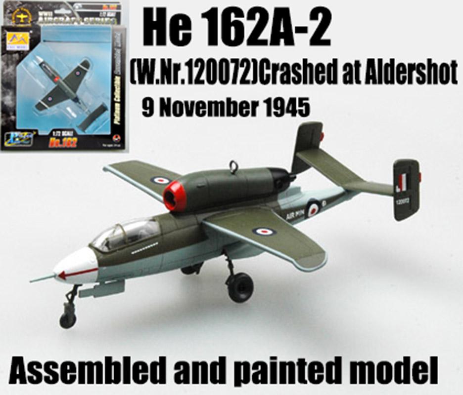 WWII Heinkel He 162 Salamander Volksjaeger JG1 1//72 diecast plane aircraft model