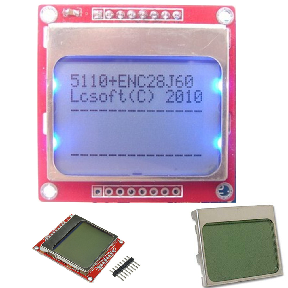 LCD Display Module Adapter PCB with Blue Back Light for Nokia 5110 3310s