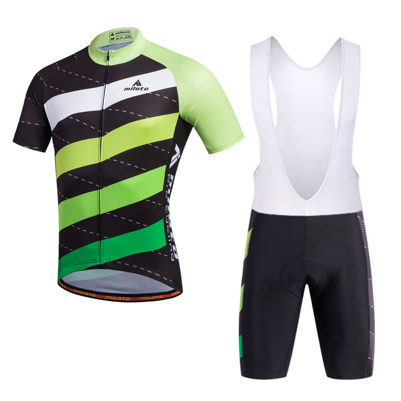 Stripes Men s Cycling Clothing Kit Reflective Jersey and (Bib ... 0b1d8b1a3