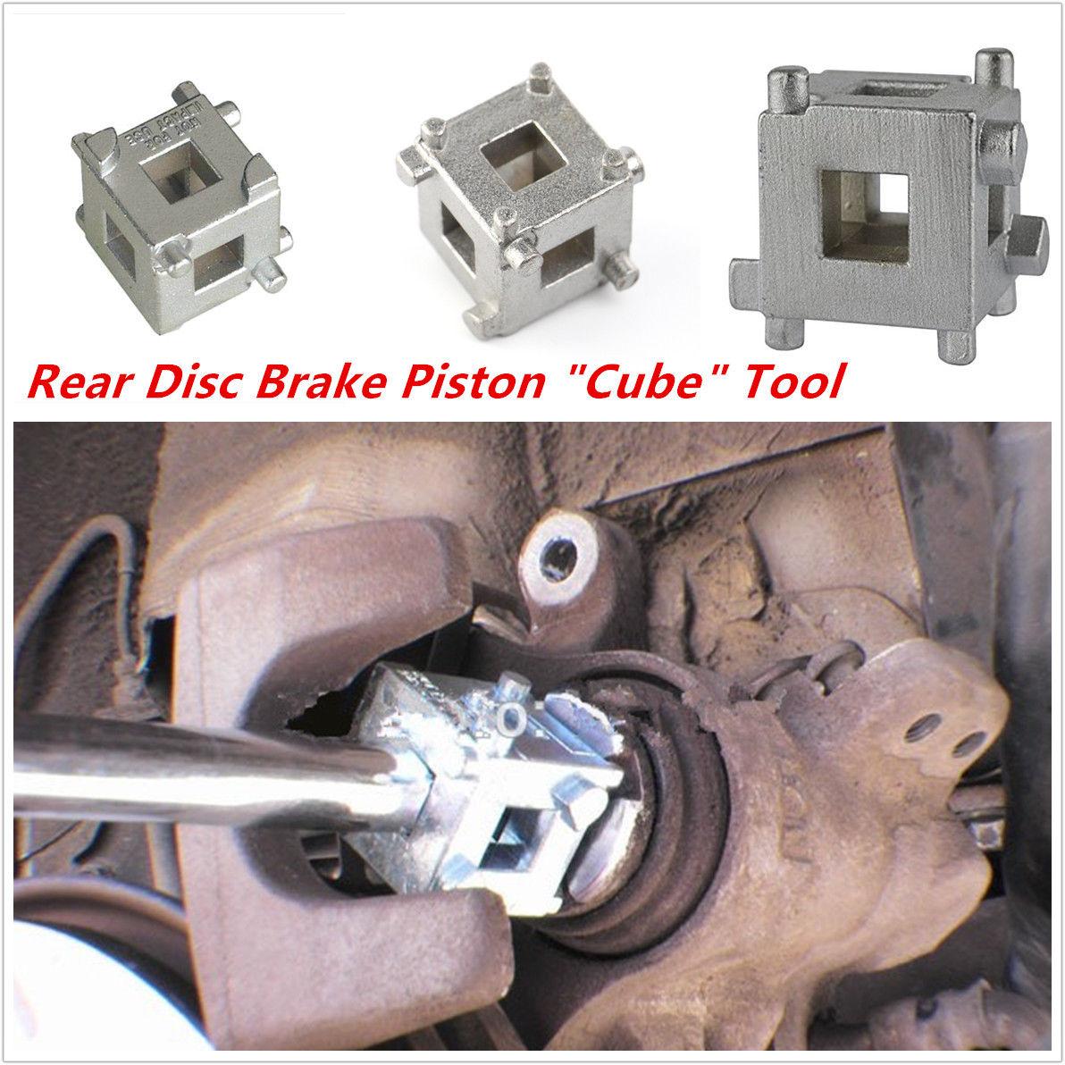 """Disc Brake Rear Caliper Piston Cube 3//8/"""" Wind Back Rewind Car Caliper Brake Tool"""