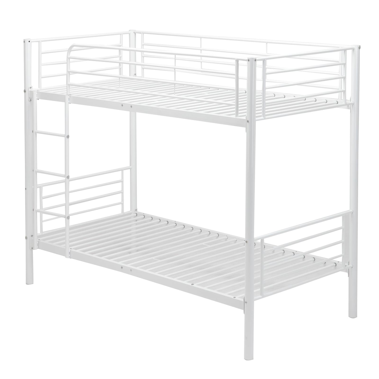 Metal Bunk Beds Frame Twin over Twin Ladder Bedroom Dorm for Kids