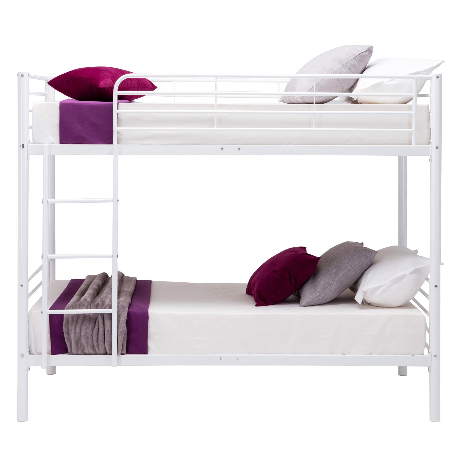 Metal Bunk Beds Frame Twin Over Twin Ladder Bedroom Dorm