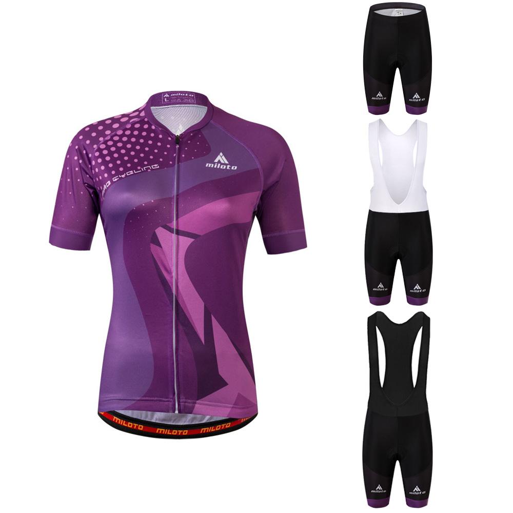 Shorts Kit Bib Purple Women/'s Road Bike Clothing Ladies Reflective Jersey /&
