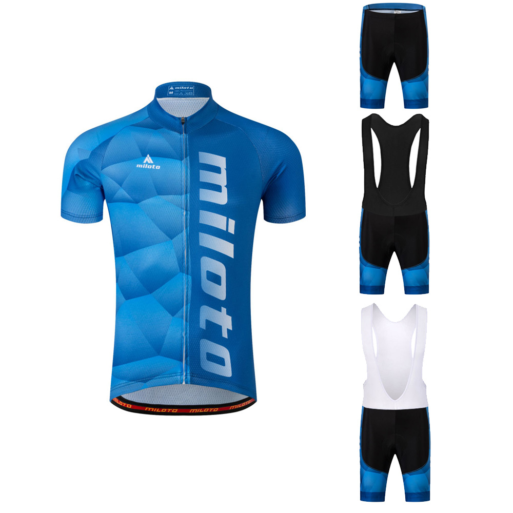 Shorts Kit Reflective Bib Men/'s Team Cycling Clothes Bicycle Jersey and Padded
