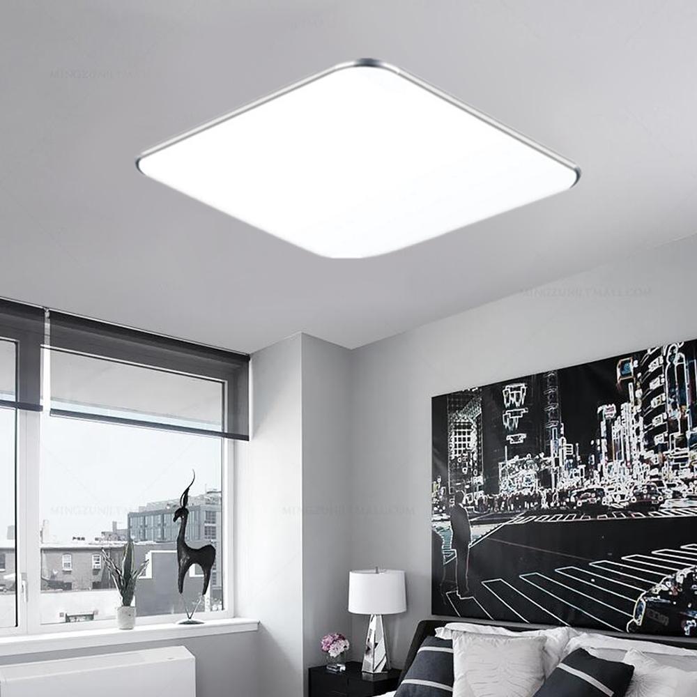 12w led deckenleuchte deckenlampe flur wohnzimmer badlampe k che silber b ro ebay. Black Bedroom Furniture Sets. Home Design Ideas