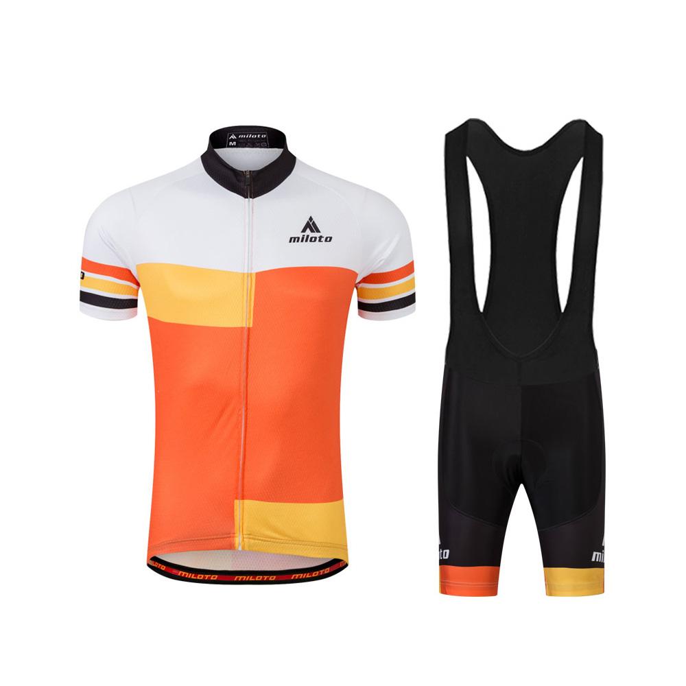 Details about Men s Orange Cycling Jersey Coolmax Bib Shorts Biking Clothing  Wear Kit S-5XL 304948bd3