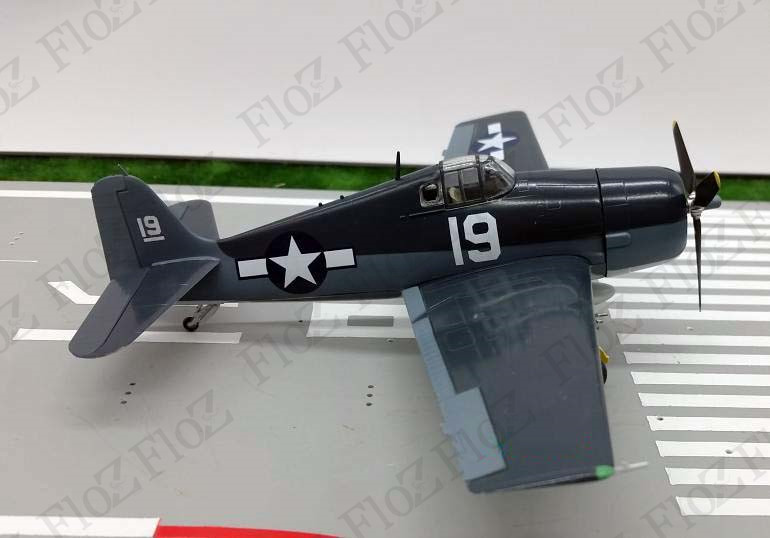 Details about Easy model F6F Hellcat WWII US VF-6 USS intrepid plane 1944  1/72 non diecast