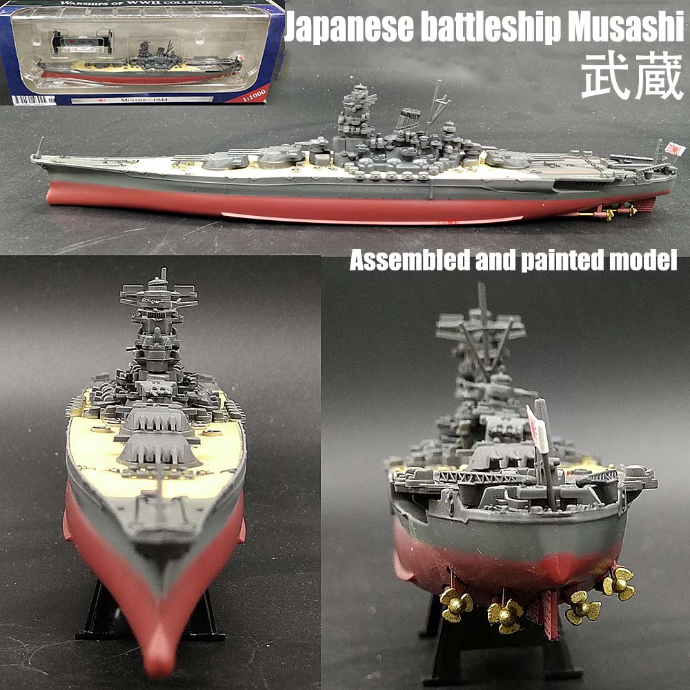 Details about Japan battleship Musashi Yamato class 1/1000 10 inches  diecast ship boat model