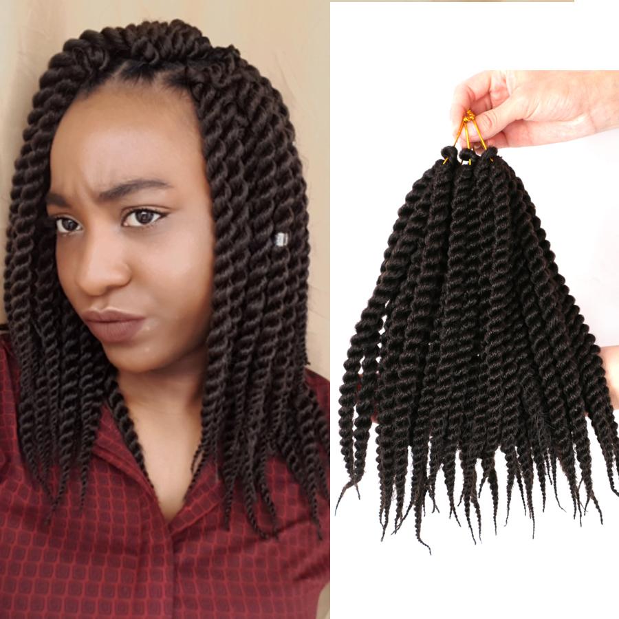 12 Short Crochet Braids Senegalese Twist Hair Kanekalon Braids Hair