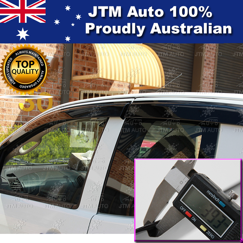 Injection Weathershields WINDOW VISORS For Holden Colorado Extra Cab 2012-2019