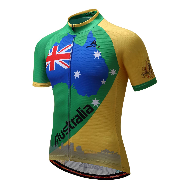 Team Cycle Jersey Tops Sleeve Australia Short Cycling Men's Bike FclJTK13